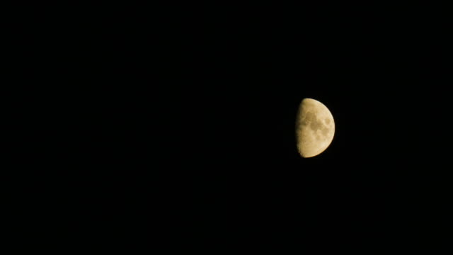 ws moon in sky at night - copy space stock videos & royalty-free footage