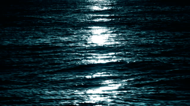 moon light at sea, loopable - wave stock videos & royalty-free footage