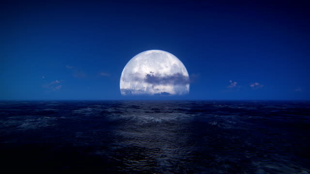 moon over sea - rough stock videos & royalty-free footage