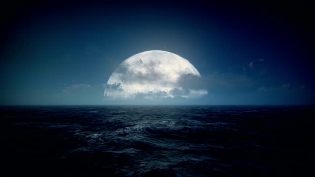 moon over sea - pastel stock videos & royalty-free footage