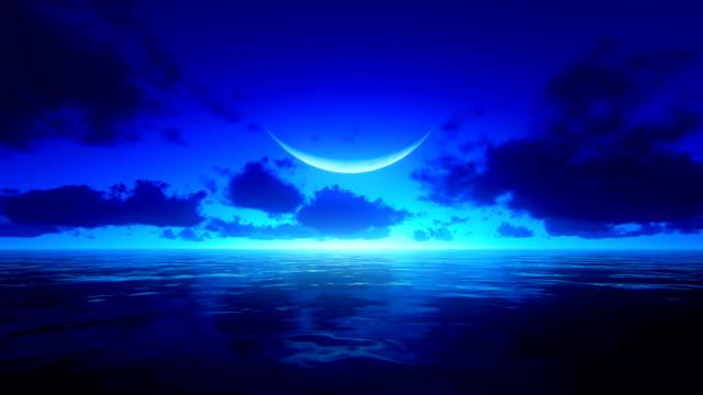 vidéos et rushes de lever du soleil sur l'océan tropical - horizon over water