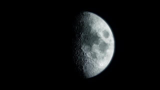 vídeos de stock, filmes e b-roll de detalhe de fases de lua hd - lua