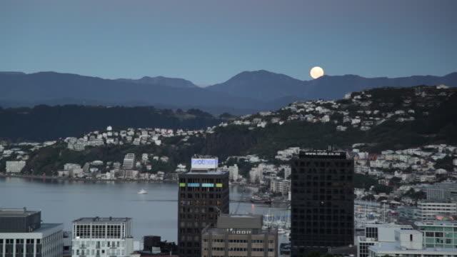 Moon rise, Wellington City