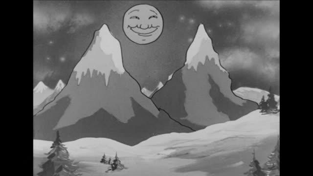 vidéos et rushes de moon rises over butt cheek mountains - fesses
