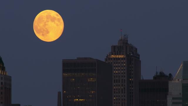 Moon Rising in the Manhattan Sky