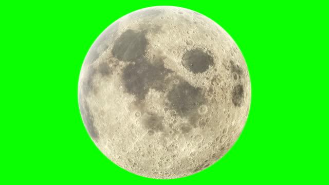 vídeos y material grabado en eventos de stock de moon rotation green color keying - espacio y astronomía