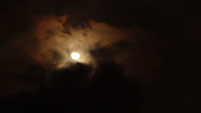 moon scenery in ubud district / bali, indonesia - ubud district stock videos & royalty-free footage