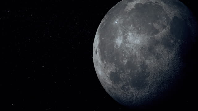moon seen from space - esplorazione video stock e b–roll