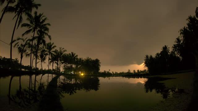 moon shadow in ubud district / bali, indonesia - ubud district stock videos & royalty-free footage