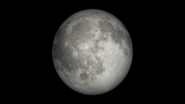 moon spin loopable elements isolated with luma matte - moon stock videos & royalty-free footage