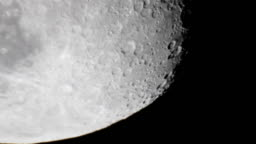 Moon surface Crater Tycho