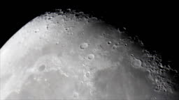 Moon surface Mare Imbrium (Sea of Showers)