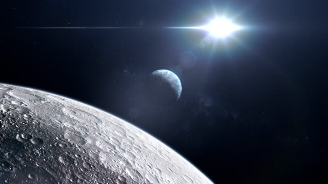 moon surface seen from space. nasa public domain imagery - moon stock videos & royalty-free footage