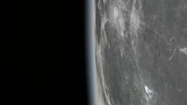 vidéos et rushes de surface de la lune vue de l'espace - exploration de l'espace