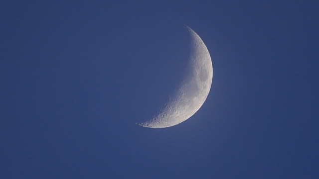 4k: moon - half moon stock videos & royalty-free footage