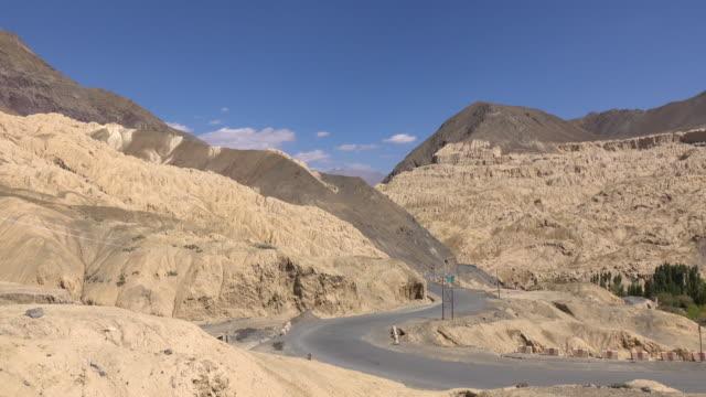 Moonland near Lamayuru monastery in Leh Ladakh, Northern India