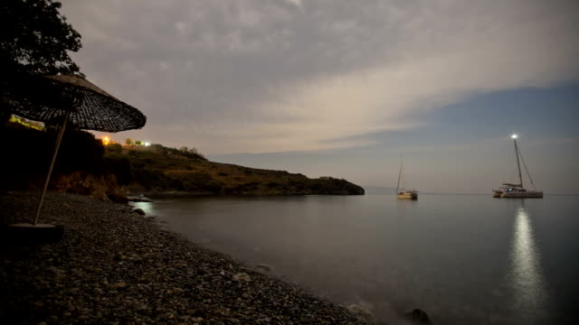 moonlapse に星 - 北極星点の映像素材/bロール