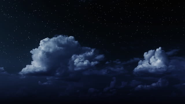 moonlight clouds - fluffy stock videos & royalty-free footage