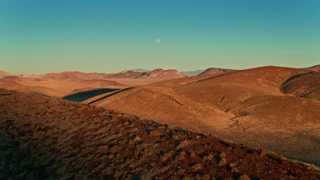 moonrise and sunset at lunar crater national natural landmark - aerial - natural landmark stock videos & royalty-free footage