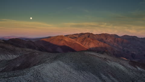 moonrise over death valley - time lapse - californian sierra nevada stock videos & royalty-free footage