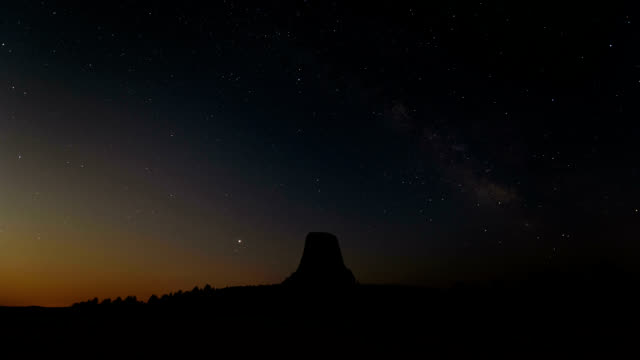 moonrise over devils tower, timelapse - igneous stock videos & royalty-free footage