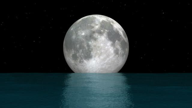 Moonset Over Ocean.