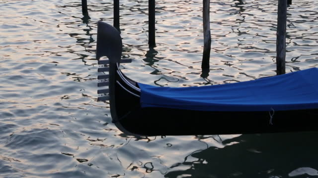 Moored gondola on the Grand Canal