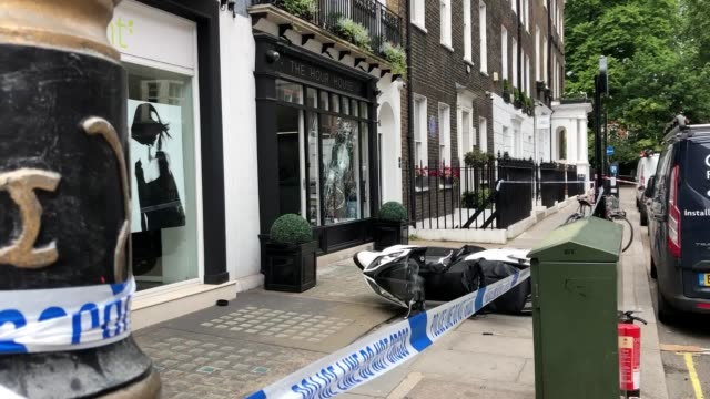 mopedriding armed robbers have targeted a luxury watch shop in london's west end the front window was smashed at the hour house in duke street near... - scooter stock videos & royalty-free footage