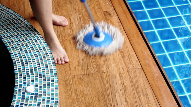 Mopping Laminate Flooring and Pool