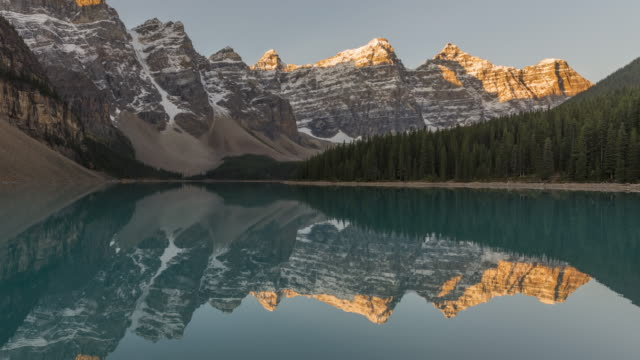 moraine lake - valley of the ten peaks stock videos and b-roll footage