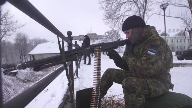 more and more estonians are joining local paramilitary forces as concern grows in the former soviet republic over russian assertiveness to the east... - assertiveness stock videos & royalty-free footage