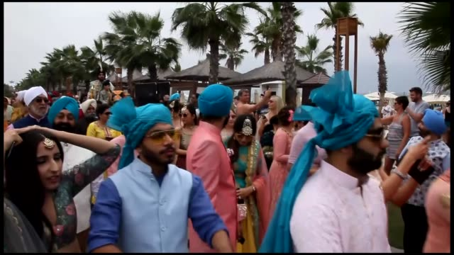 more and more indian couples are looking to tie the knot in turkey's sunny coastal resort of antalya according to a wedding industry insiderof some 1... - mediterranean turkey stock videos and b-roll footage
