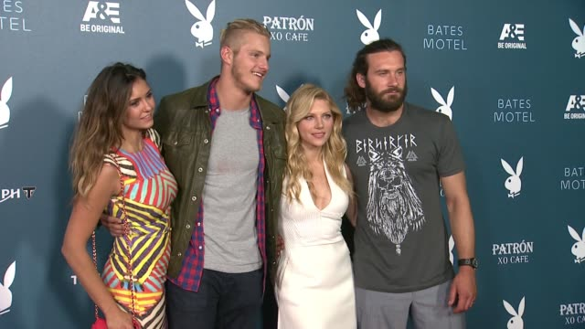 more celebrity broll playboy and ae's bates motel event during comiccon weekend on july 25 2014 in san diego california - playboy magazine stock videos and b-roll footage