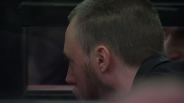 vídeos y material grabado en eventos de stock de more details emerge about 'speedboat killer' jack shepherd's life on the run; 25.1.2019 georgia: tbilisi: int wide shot of courtroom including judge... - georgia