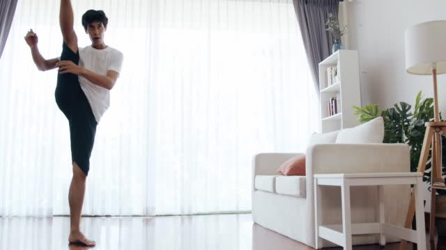 more leg stretch. - taekwondo stock videos & royalty-free footage