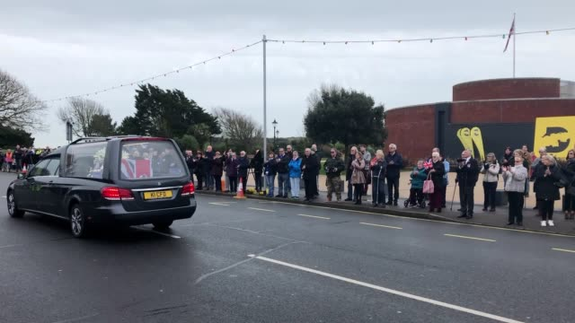 more than 100 members of the public turned out to show their respects to d-day veteran john jenkins as his funeral procession passed the museum where... - sergeant stock videos & royalty-free footage
