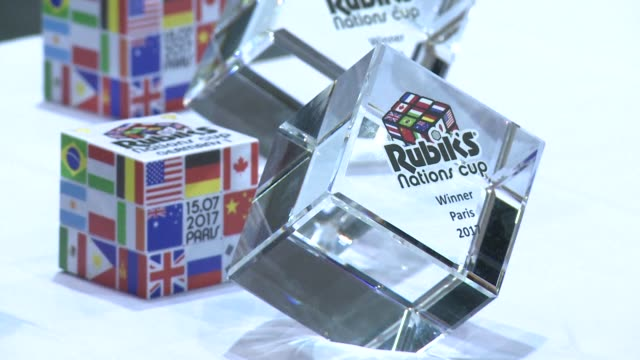 More than 1100 masters of the Rubik's Cube the infuriating puzzle that became the biggest selling toy ever gather in Paris for the world championships