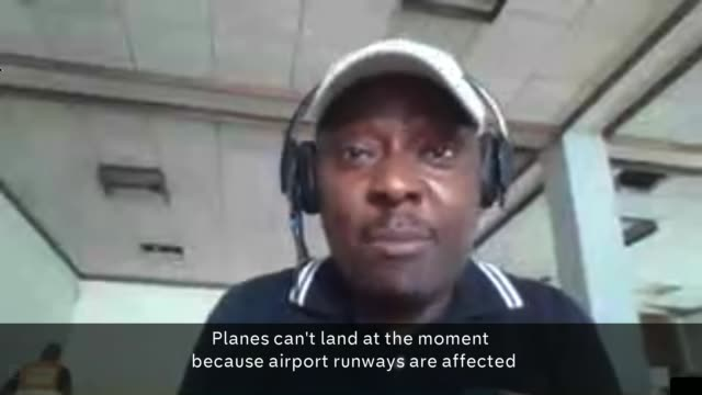 more than 200 confirmed dead after cyclone idai mozambique int joseph kamara interview via internet sot - cyclone stock videos and b-roll footage
