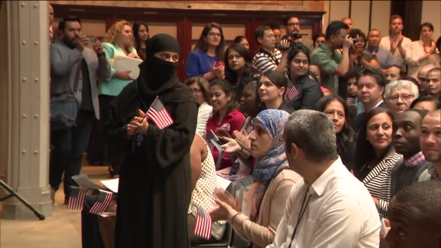 WPIX More than 200 immigrants became US Citizens today The Naturalization ceremony was held at the Public Library on Fifth Ave Candidates from more...