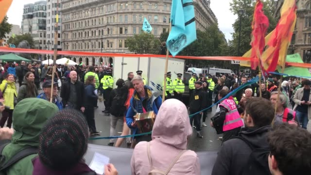 more than 200 people have been arrested in london on the first day of a twoweeklong planned rallies and blockades by an activist group extinction... - planning stock videos & royalty-free footage
