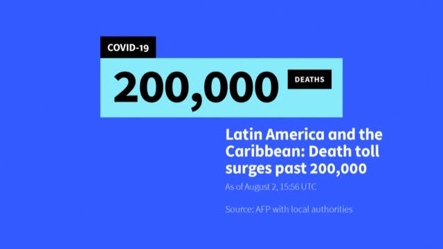 more than 200,000 people have died from coronavirus in latin america and the caribbean, with brazil and mexico accounting for nearly three-quarters... - three quarter length stock videos & royalty-free footage