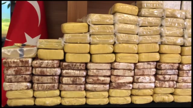 more than 220 kilograms of heroin were seized during anti-narcotics operations in istanbul, a police source said wednesday. in an operation in the... - heroin stock videos & royalty-free footage