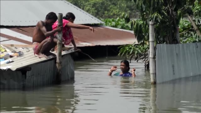 More than 24 million people have been affected by some of the worst flooding to hit South Asia in decades with large areas of land submerged in water