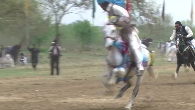 more than 300 renowned horse riders from pakistan take part in an event organised to promote recreational activities for islamabad residents - recreational horse riding stock videos & royalty-free footage