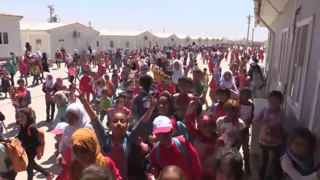 more than 60 percent syrian children in turkey are attending school education ministry official nezir gul said on april 29 2018 in malatya turkey... - pct stock videos and b-roll footage