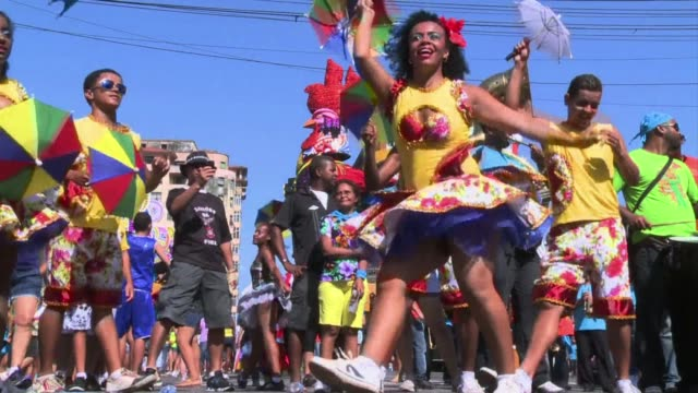 more than a million people get into the carnival spirit on the streets of the brazilian city recife clean carnival celebrations on streets on... - brazilian carnival stock videos and b-roll footage
