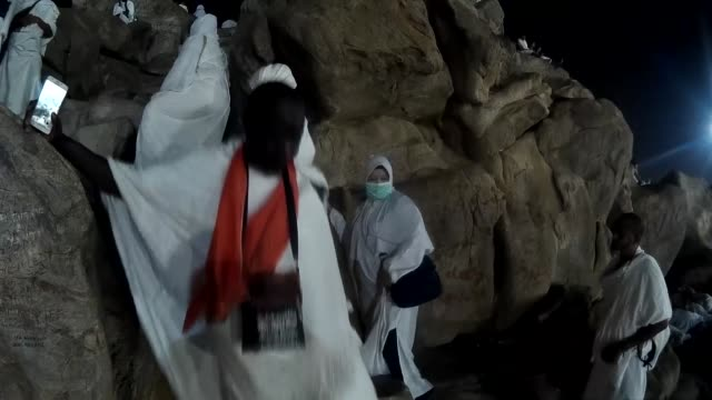 more than two million muslim pilgrims ascend the plain mt. arafat near the saudi city of mecca on august 10, 2019 to perform the annual hajj... - four animals stock videos & royalty-free footage