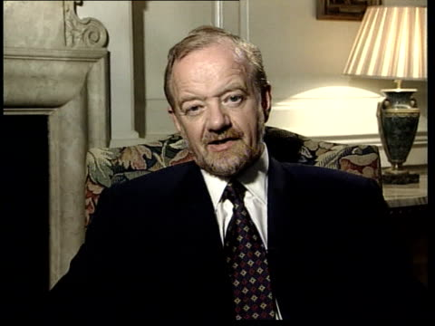more violence expected itn england london int robin cook mp interviewed sot we should be supporting any realistic opportunity for the international... - sea robin stock videos & royalty-free footage