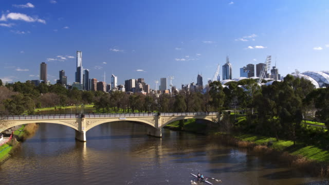 morell bridge, yarra river, melbourne, victoria, australia - cityscape stock videos & royalty-free footage