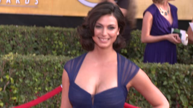 morena baccarin at 20th annual screen actors guild awards - arrivals at the shrine auditorium on in los angeles, california. - shrine auditorium stock videos & royalty-free footage